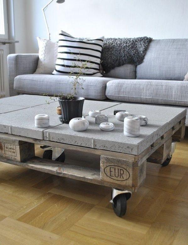 25 ide terbaik tentang mesas hechas con palets di - Mesa de palets ...