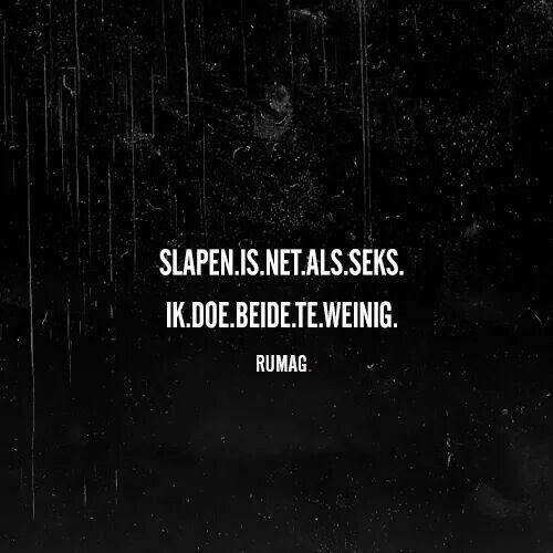 Slapen/Seks #rumag