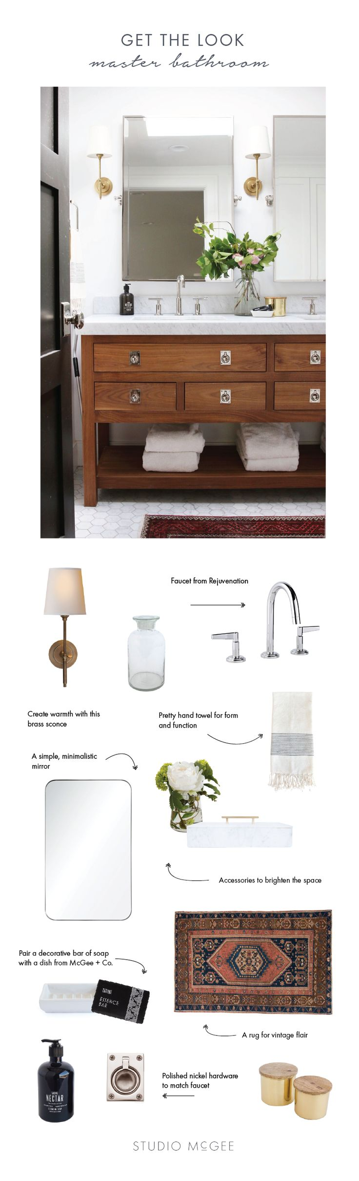 Master bathroom refresh - Studio McGee