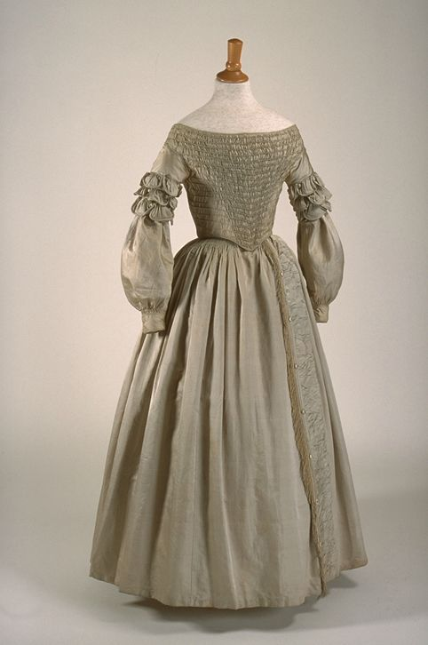 Wedding ensemble ca. 1840  From the Musée du Costume et du Textile du Québec