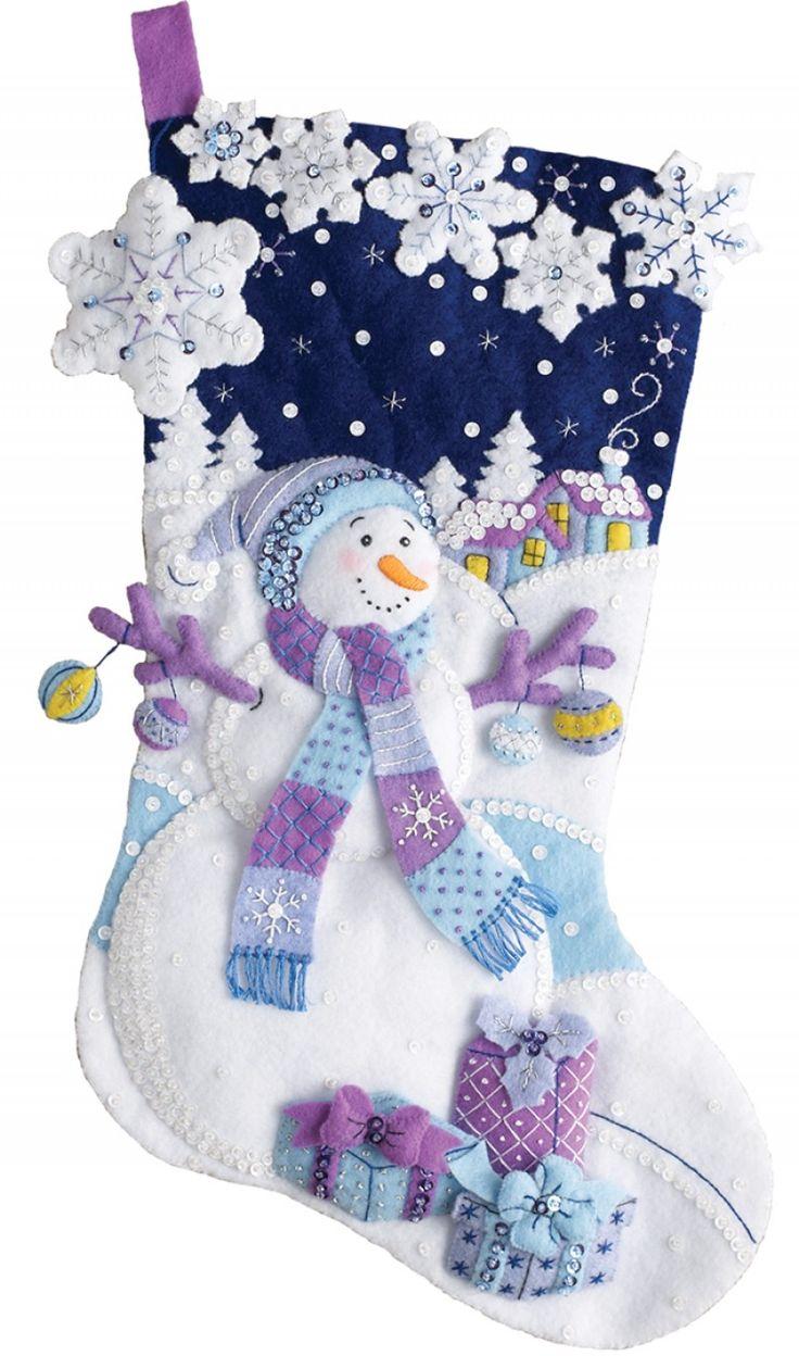 Frosty Night Bucilla Christmas Stocking Kit
