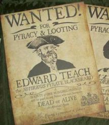 Pirate Props To Make   Pirate Wanted Poster - £16.00 : Letters of Marque, Replica Props ...