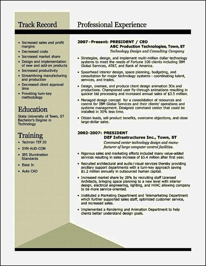 example of award winning resume