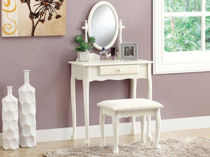 Antique White Vanity Set - ELLEDecor.com