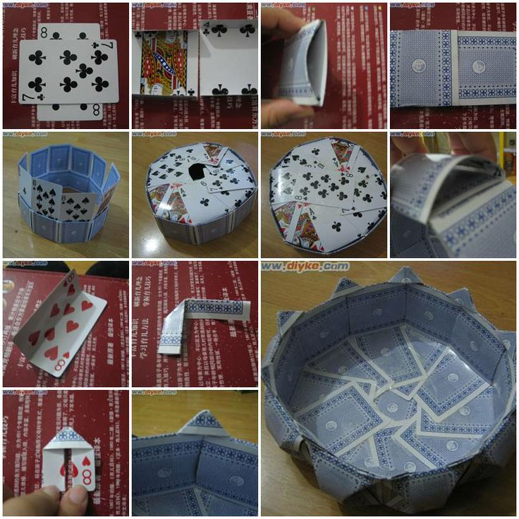 2642 best crafts and fun stuff images on pinterest bricolage how to make storage bins with poker cards step by step diy tutorial instructions solutioingenieria Images