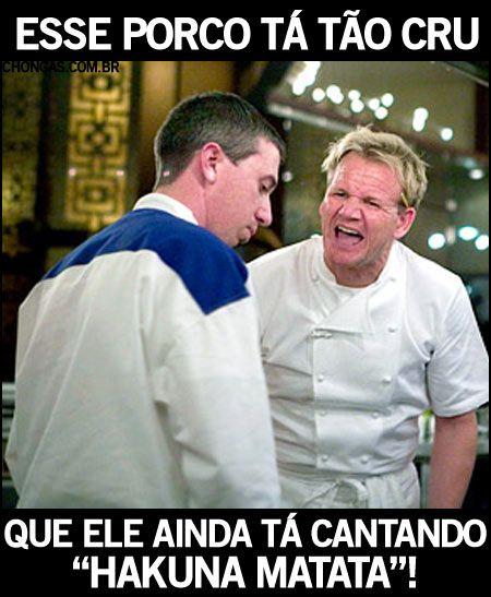 Galeria de frases hipotéticas do Chef Ramsay