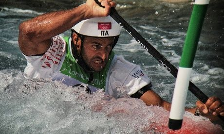 Italian Daniele Molmenti paddles his way to win Gold in the Mens's Kayak