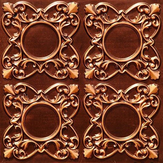 133 faux tin ceiling tile antique copper glue up mirror mirror