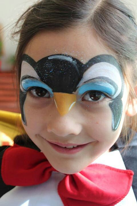 Face paint penguin
