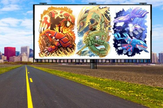 pokemon groudon and rayquaza and kyogre