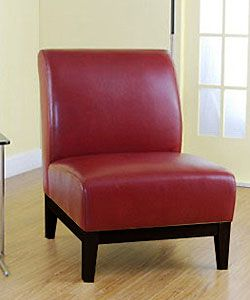 Cole Burnt Red Leather Chair Not Sure If I Would Like With No Arms But Beautiful Color For The Home In 2018 Pinterest