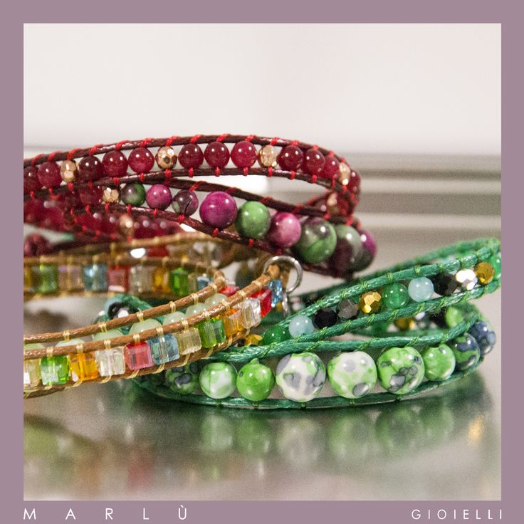 Nuovi bracciali multi giro in cordino cerato con perline e pietre della collezione #NewDelhi   Waxed cord multi ride bracelets with beads and stones. #NewDelhi Collection