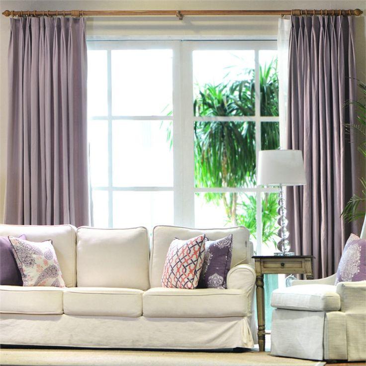 遮光カーテン オーダーカーテン マカロン紫色 無地柄 3級遮光カーテン(1枚) PL006