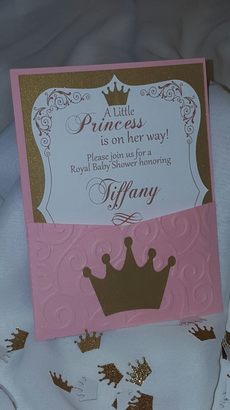 A little princess baby shower invitations 3 pink and - Decoracion para foto ...