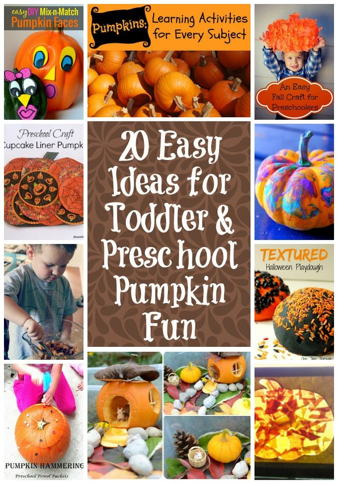 Looking for fun and festive preschool pumpkin ideas? Here's 20 of the best and easiest for fall family fun. Bonus: Enter to win one of 4 $500 cash prizes!