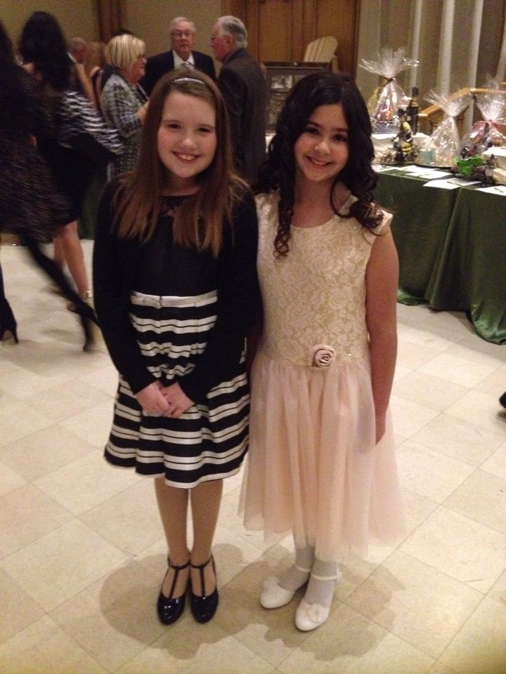 At a gala I'm in the black and white it's for the Ronald McDonald house charity and for we care for kids