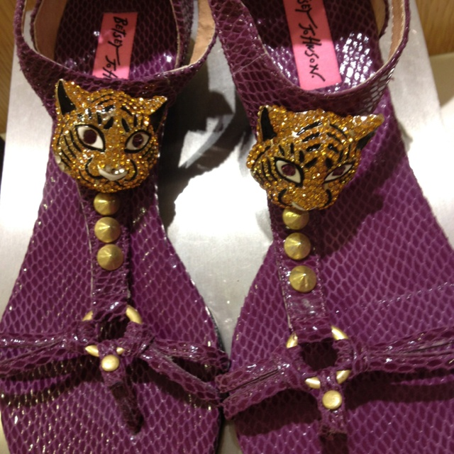 Cute Betsy Johnson sandals I saw today at Dillard's. Great for Tiger football or baseball games!