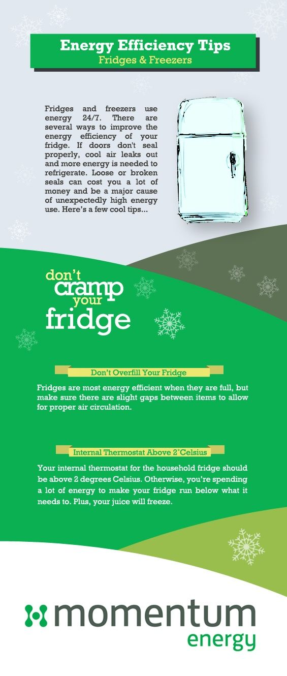 Some cool Energy Efficiency Tips for your fridge and freezer. #energyefficiency #infographic