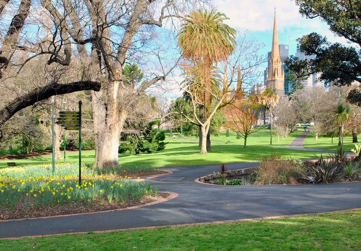 'Fitzroy Gardens'. Albert Street, Melbourne. © G.C. Campbell.