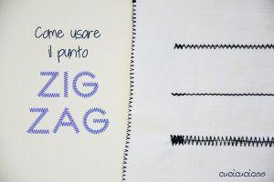 Impara a Cucire a Macchina: Come fare il punto zig zag   www.cucicucicoo.com