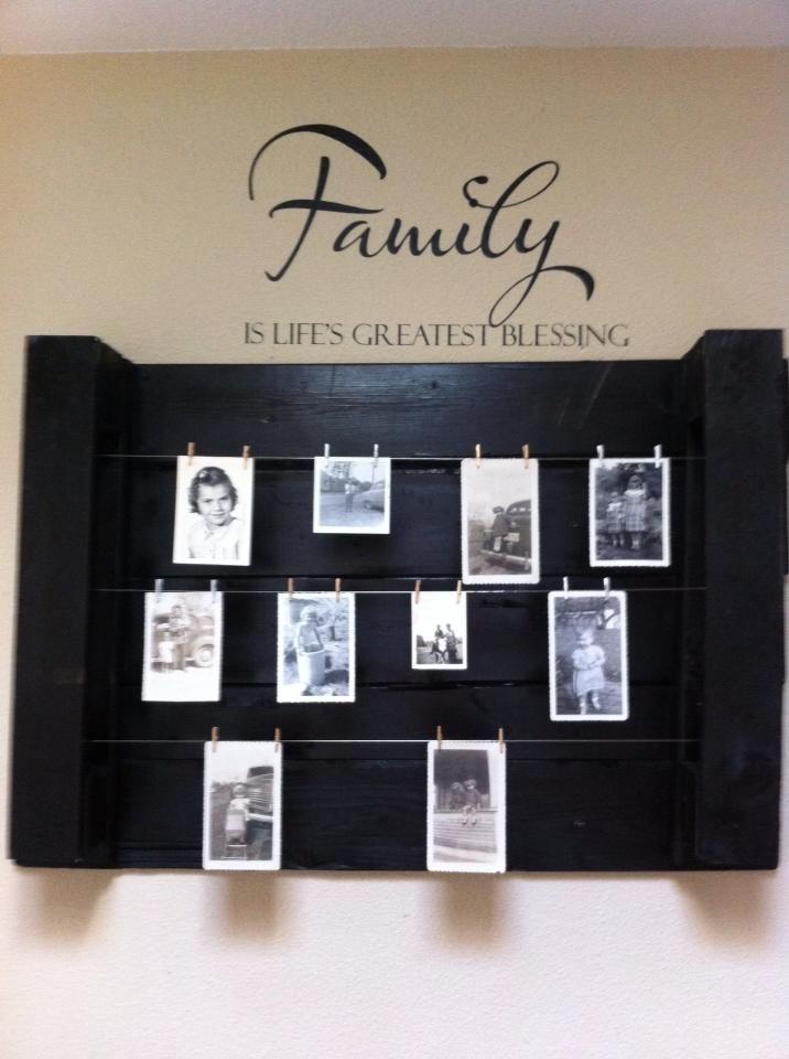 Pallet shelf ideas! Idea sent by Effie Smith ! #Pallet, #Shelves