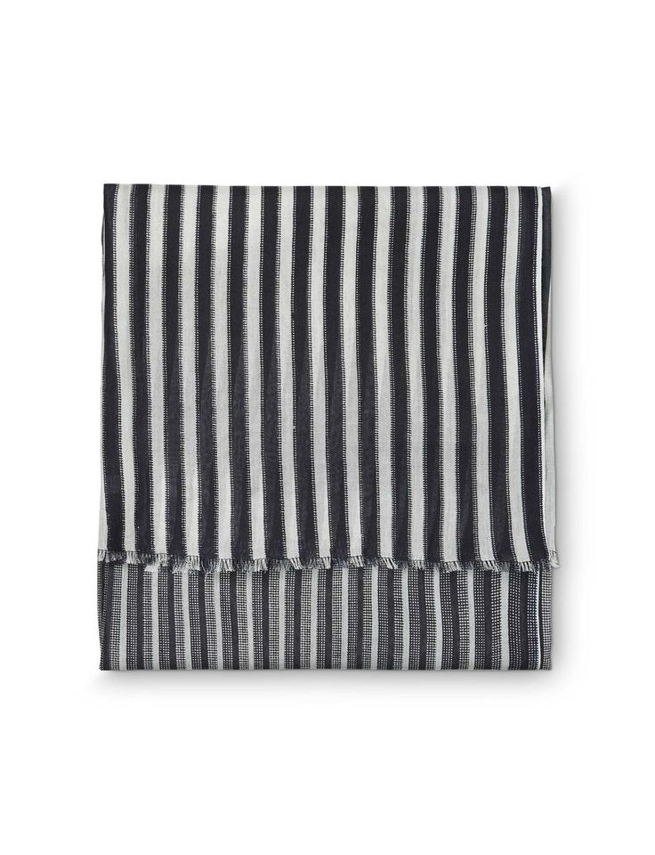 Malgina scarf-Women's rectangular scarf in viscose. Features all-over seasonal print with varying stripes. Size: 90 x 160 cm.