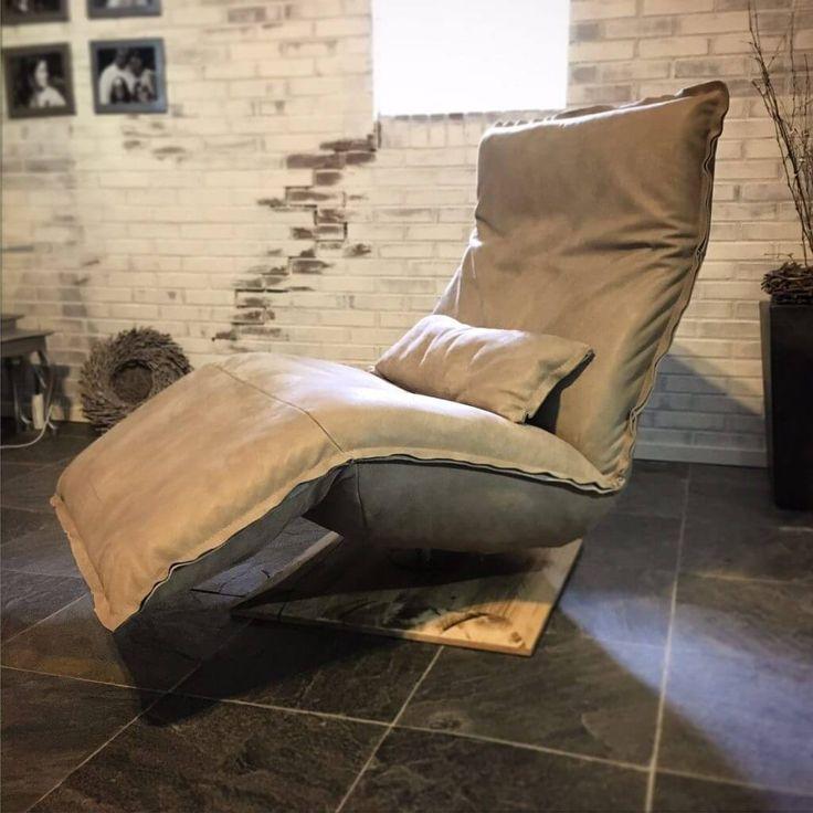 Relaxfauteuil Indi van DN Design Chill line met accu in leer.