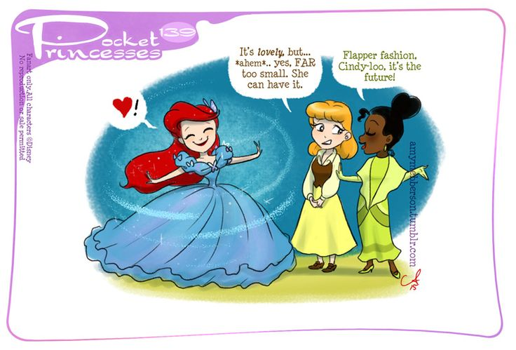 Pocket princesses 139: New Dress (artist: Amy Mebberson)    Please reblog, do not repost or remove captions