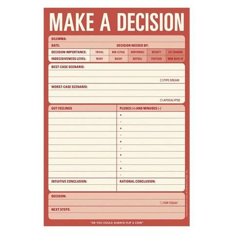 Knock Knock Pad - Make a decision