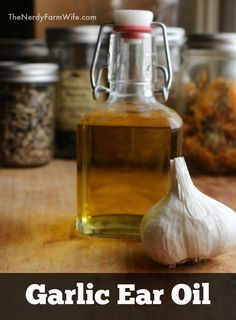 Garlic Ear Oil (home remedy for ear problems in humans, dogs, cats, horses & goats)