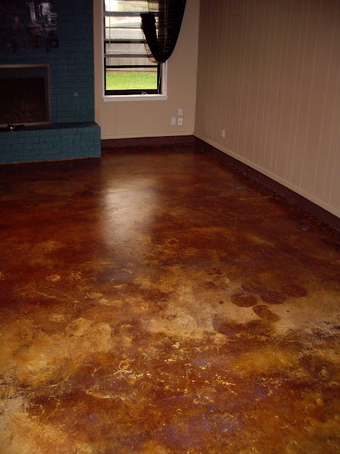 24 best stained concrete floors images on pinterest for Stained polished concrete floor