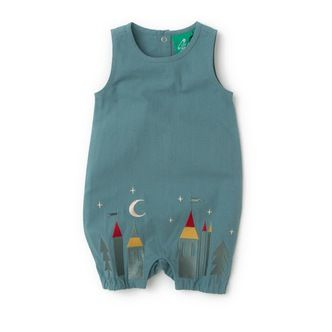 Delicately embroidered on the hem of the dungarees are magical castles, stars and moons. Made from amazingly soft organic fair trade 'peached' canvas, with the best quality embroidery.  You have to feel it to believe it!