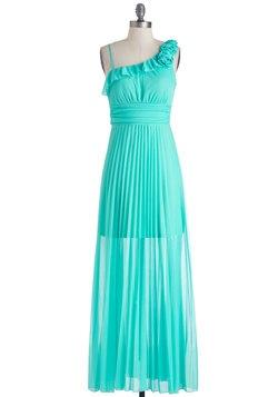 Certain Je ne Sais Aqua Dress, #ModCloth