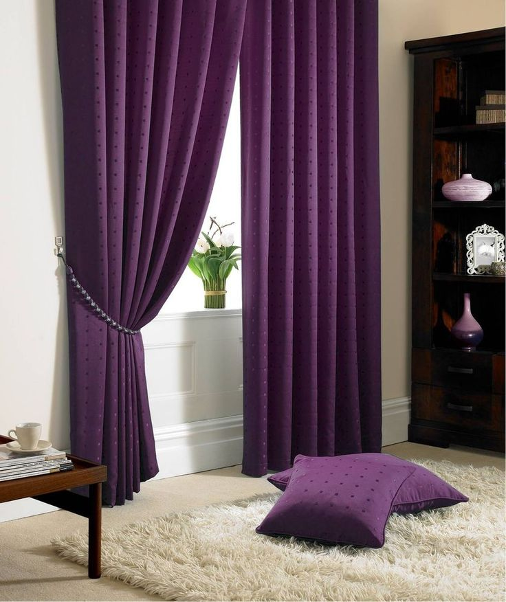 STUNNING PURPLE CHECK PENCIL PLEAT LINED CURTAINS ****8 SIZES****