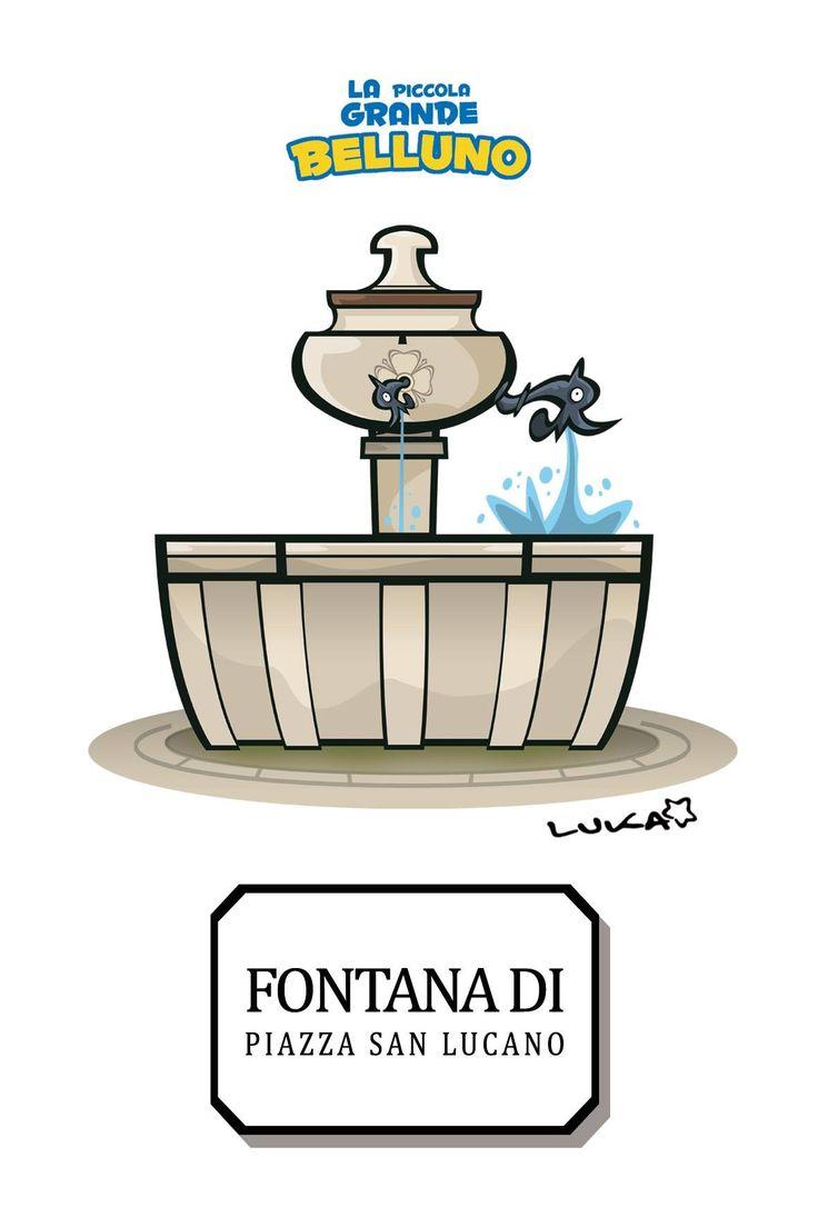 Fontana di Piazza San Lucano Belluno Dolomiti Veneto Italia by Luca Stella
