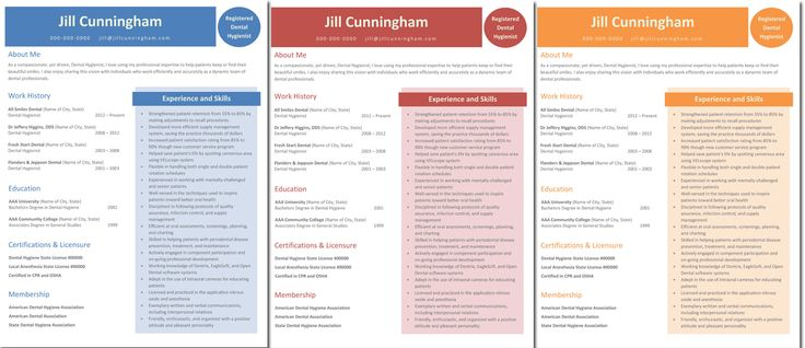 "Please say hello to our newest dental hygiene resume template, ""Jill"". This resume template, available in three different colors, gives you expanded ability to provide more detail surrounding licensure and memberships or whatever else is important. But most important, it stands out and gets you noticed. Click here to get it today for only $9.99! It also comes with a FREE cover letter template."