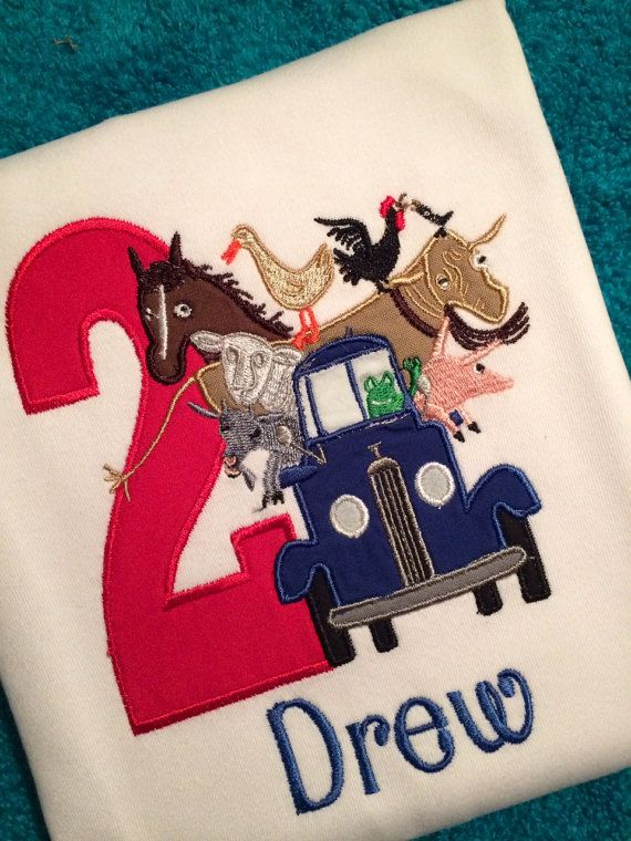 Little Blue Truck Birthday shirt or by BeeYouTifulBoutique on Etsy