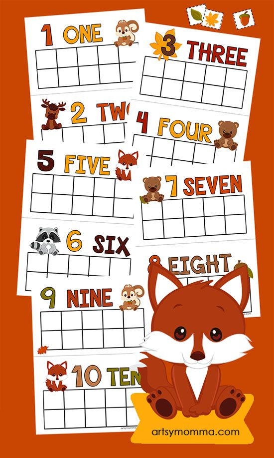 Fall Counting Cards for Preschool and Kindergarten!