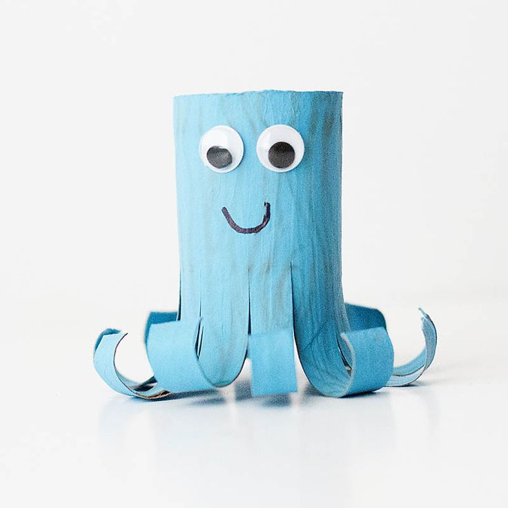 Octopus Cardboard Tube Craft: Here are 10 easy kid crafts that are tubular genius.