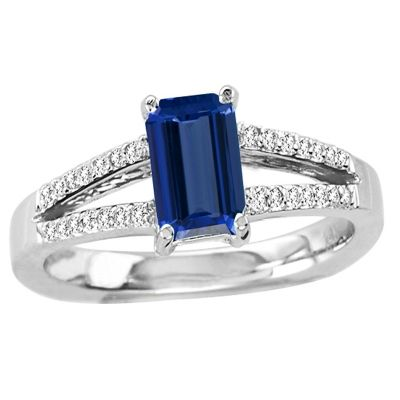 0.78 Carat #Emerald Cut Tanzanite #Ring in Gold, Price: $898.