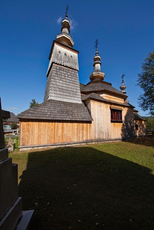 Wooden church in Ladomírová