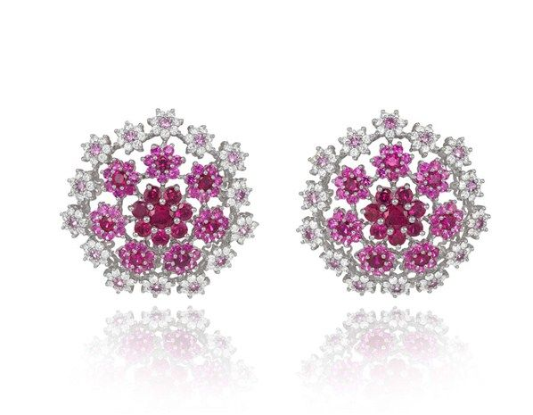 Diamond and pink sapphire earrings - The real stars of the Cannes red carpet - MSN Her UK