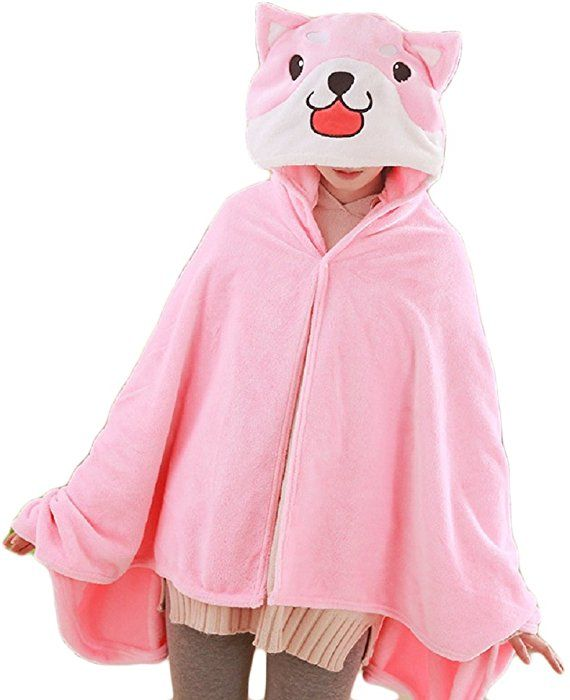 272c4dab0 CORIRESHA Cute Coral Velvet Long Sleeve Shiba Inu Dog Home Wear Clothes  Hoodie Sweatshirt with 3D Dog Ear and Dog Tail at Amazon Women's Clothing  store: