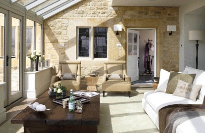 nice conservatory / orangery extension - inside out