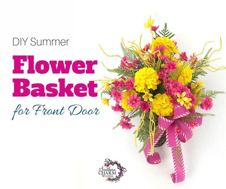 Basket Flower Arrangement Step By Step : Best images about floral arrangements on