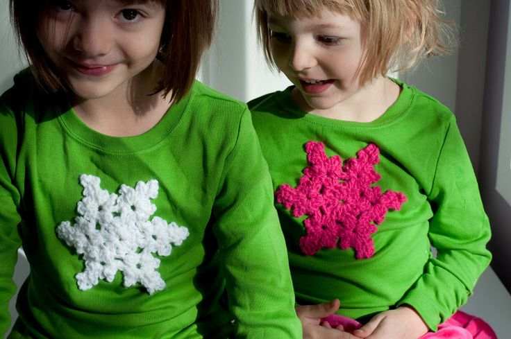 Aesthetic Nest: Crochet: Sparkle Snowflake Applique (Tutorial)