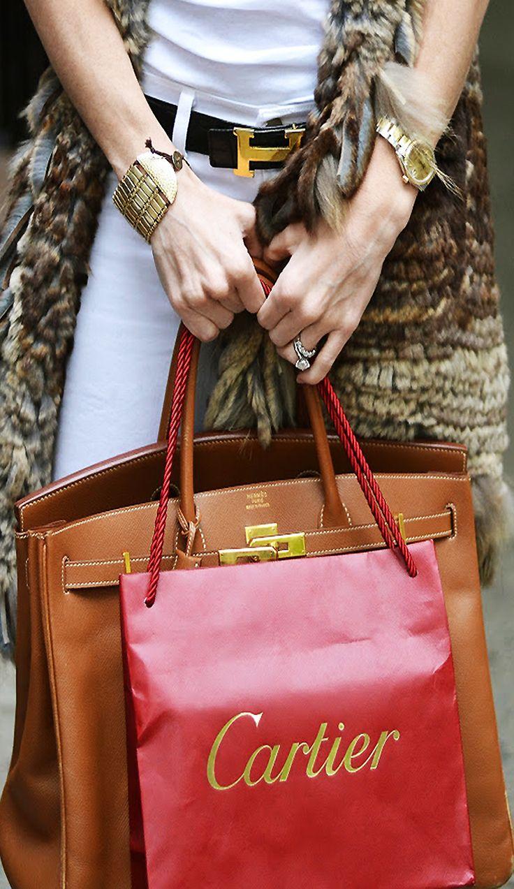 Hermes, Cartier. Luxe
