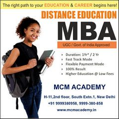 MCM Academy group of Regular & Distance Education in India.