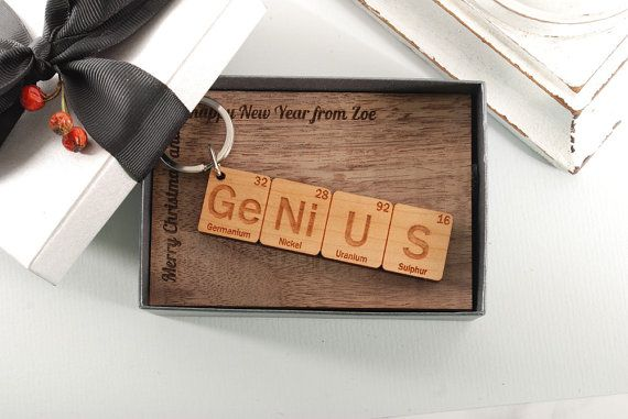 GENIUS  ready to give gift box personalized solid by MoodForWood