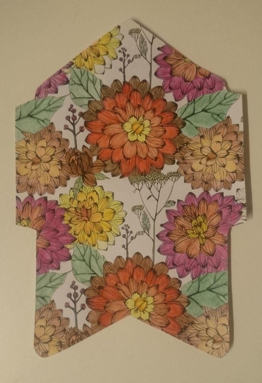 Envelop met bloemen